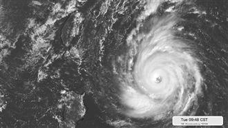 強颱潭美威力強 結構紮實颱風眼清晰