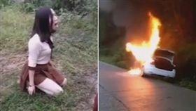 ▲謝女崩潰看家人車內活活燒死。(圖/翻攝自長沙晚報)