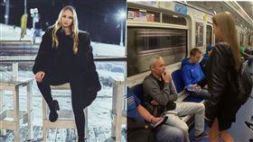 羅斯正妹Anna Dovgalyuk搭電車拿漂白水噴男性。(圖/翻攝Anna Dovgalyuk IG)