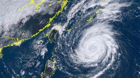 潭美颱風 圖翻攝自向日葵衛星