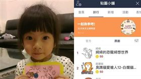 女童綺綺貼圖/合成圖/施景中臉書、LINE