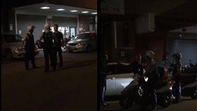 台中2男搶一女毆警/翻攝自黑色豪門企業臉書
