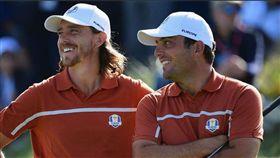 弗利伍德(左)與摩利納里在本屆萊德盃保持全勝。(圖/翻攝自PGATOUR Twitter)