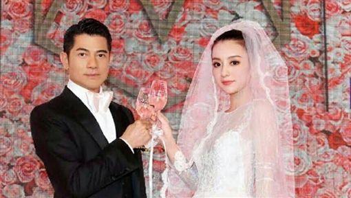 郭富城方媛結婚一週年 罕見結婚照曝光!(圖/翻攝自微博 方媛粉絲團) ID-1566305