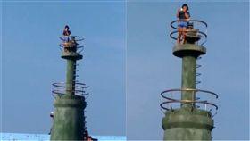 遊客,小琉球,燈塔(圖/翻攝畫面)