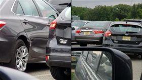 三寶不會倒車…鄰車慘遭刮花撞凹 三寶,停車場,肇事逃逸 翻攝自臉書