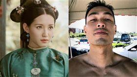 《天龍八部》第六次翻拍,蘇青飾演「阿朱」,跟楊祐寧飾演的「喬峰」。(翻攝微博)