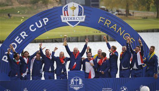 歐洲隊再度搶回萊德盃勝利。(圖/美聯社/達志影像)