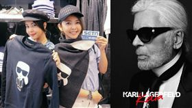 ▲美女旅遊專家法蘭克福直擊老佛爺Karl Lagerfeld精品店。(組合圖/蕭翰弦攝影/Weng Collection提供)