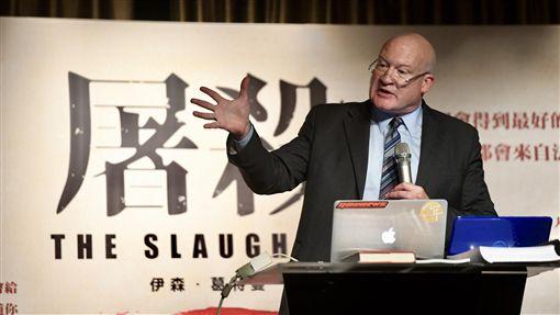 葛特曼在台召開國際記者會(1)書籍「屠殺」(The Slaughter)的作者伊森.葛特曼(Ethan Gutmann)1日抵台,2日下午在台北舉行國際記者會。中央社記者孫仲達攝 107年10月2日