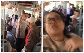 大陸,婦女,公車,暴打,女學生(圖/翻攝自微博)