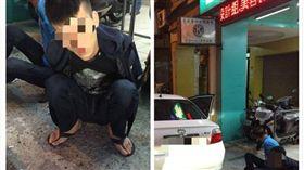 警方盤查違停車輛,成功逮捕毒犯。(圖/翻攝畫面)