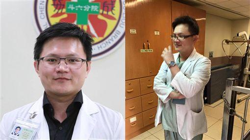 林祐丞醫師 合成圖翻攝自成大醫院、林柚橙臉書