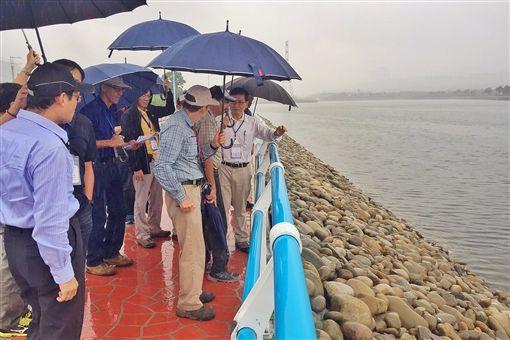 參訪中庄調整池 台美水資源專家技術交流