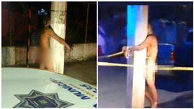 墨國小鎮詭異犯罪,受害者同晚被裸體綁柱子…屁股都紅紅的!(圖/翻攝自José Luis Morales Twitter)