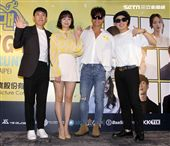 Running Man成員梁世燦、全昭旻、金鍾國、哈哈台北見面會。(記者邱榮吉/攝影)