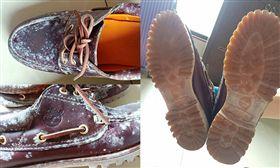 發霉,鞋,真皮,專櫃,踢不爛,Timberland,雷根鞋,爆廢公社 圖/翻攝自爆廢公社