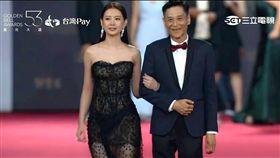 安心亞與同戲男主角喜翔兩人共同步上紅毯。