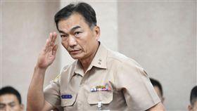 海軍參謀長李宗孝前往立院備詢。 (圖/記者林敬旻攝)