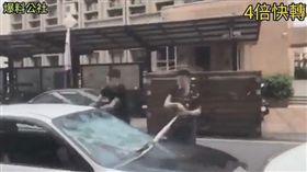 屏東,砸車,行車糾紛,玻璃(圖/翻攝自爆料公社臉書)