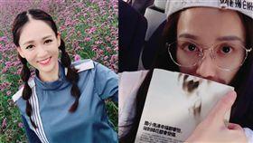 日前陳喬恩在上海機場發現被拍,遮臉跑給狗仔追。(圖/翻攝自陳喬恩微博)