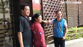 國民黨立委費鴻泰、市議員參選人游淑慧、羅智強。潘千詩攝影