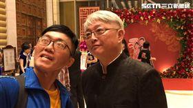 李國超笑說自己一把年紀了,就別當花童了。(圖/記者蔡世偉攝影)