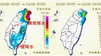 北台涼中南微熱 注意東北風異常降水