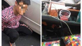 警方盤查違規車輛,發現車內藏有數包毒品。(圖/翻攝畫面)