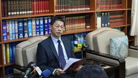 ▲外交部發言人李憲章證實巴拉圭移民局局長Julian A.Vega請辭獲准。(圖/記者林仕祥攝)
