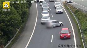 四川,成灌高速公路,女司機,掉頭,塞車(圖/翻攝自梨視頻)
