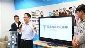 國民黨台北市長參選人丁守中10月7日發布競選歌曲「台北的未來在手中」,丁守中競選辦公室提供