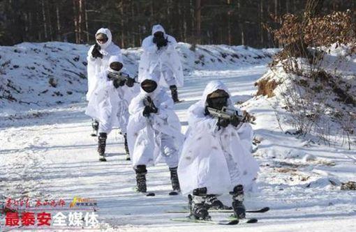 ▲中國國足射擊訓練。(圖/截自中國媒體)