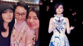 在歌壇、影壇、粵劇獨霸一方的三位女神竟是好友,被網友稱讚凍齡有術。(組合圖/翻攝自江蕙臉書)