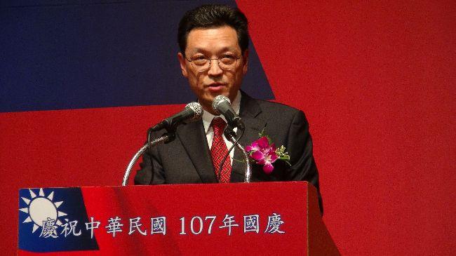 唐殿文在首爾中華民國國慶酒會致詞駐韓代表唐殿文於10日晚間在首爾國慶酒會上致詞,呼籲台韓兩國以異曲同工的新南向政策攜手合作共創雙贏。中央社記者姜遠珍首爾攝  107年10月10日