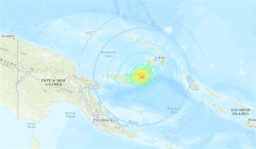 巴布亞紐幾內亞發生規模7強震/美國地質調查局官網