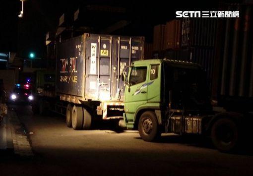 貨櫃車,檢驗員,台中港,台中,翻攝畫面