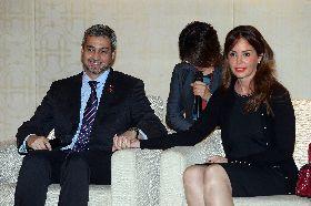 巴拉圭總統夫婦與媒體談話(2)