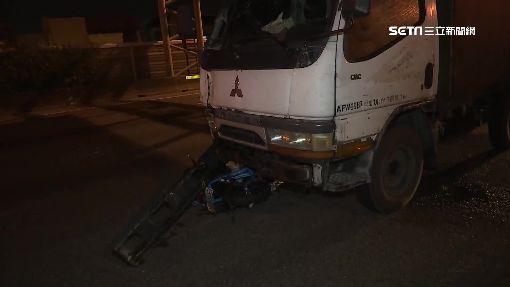 騎士逆上國道撞貨車 頭插擋風玻璃1死2傷