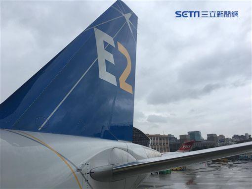 E190-E2,鯊魚機,華信航空,Embraer,巴西航空工業,/記者蕭筠攝影