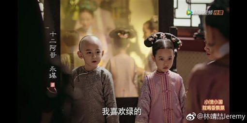 《如懿傳》十二阿哥林靖喆(圖/微博)