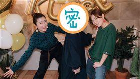林宥嘉跟老婆丁文琪愛子「酷比」的雙滿月見面會,「S.H.E」Selina、Ella到場慶賀。(翻攝臉書)