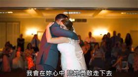 5位哥哥代替已逝父親,和妹妹跳「父女舞」。(圖/翻攝自B.C.&LowyYouTube)