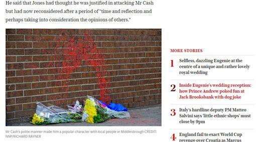 英國,街友,流浪漢,潑油漆,惡作劇 圖/翻攝自gazettelive