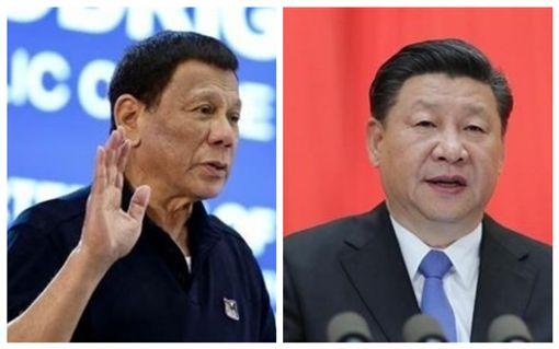 菲律賓,杜特蒂,中國大陸,習近平(合成圖/翻攝自rappler、新華網)