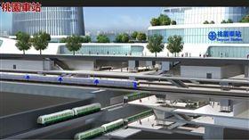 桃園鐵路地下化模擬影片(桃園車站) 圖/翻攝自桃園捷運 Taoyuan MRT臉書