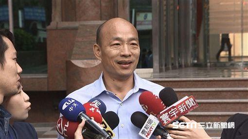 國民黨高雄市長參選人韓國瑜回應「陪睡」說。(圖/三立新聞)