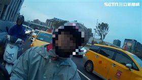 台北,手機,機車,撞警,妨害公務(圖/翻攝畫面)