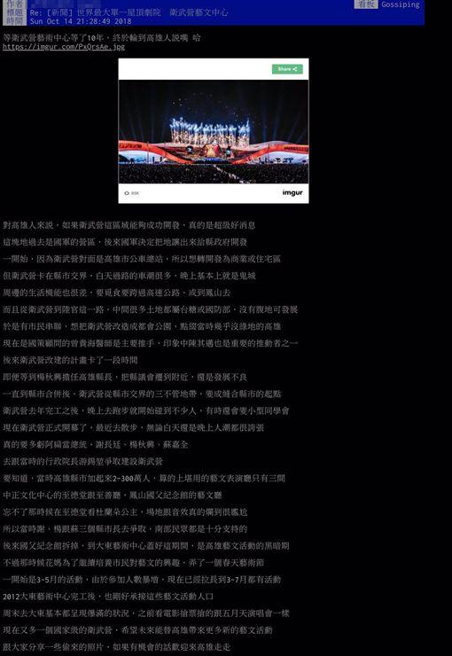 衛武營從軍營變世界級劇院 網讚:陳其邁是重要推手