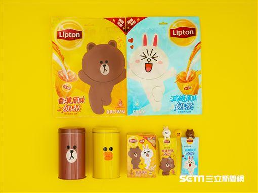 LINE X立頓聯名,熊大兔兔化身為超萌杯緣子。(圖/品牌提供)